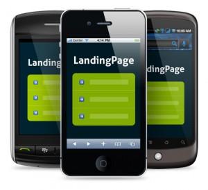 Целевая страница, адаптирована под мобильные устройства